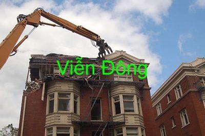 Báo giá phá dỡ nhà, phá dỡ công trình